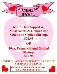 VALENTINE'S DINNER SPECIAL