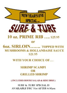 Join us for New Years Eve !!